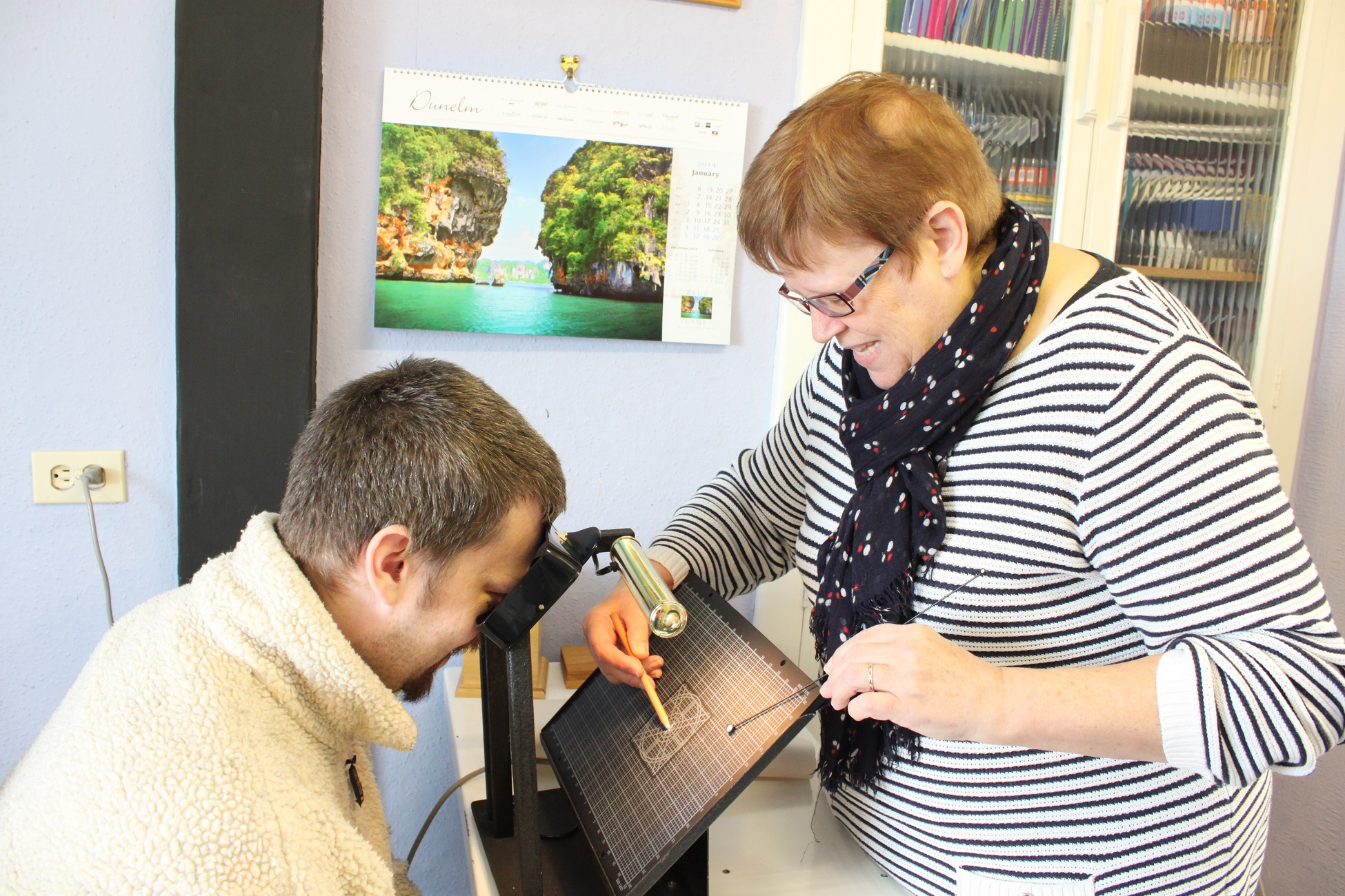 Measuring the visual field at Shaylers Vision Centre, Wareham, UK
